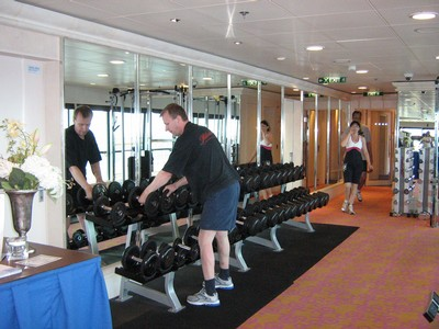 Klas på Jewel of the seas gym