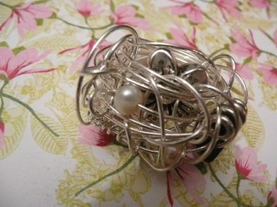 Ring silver ros