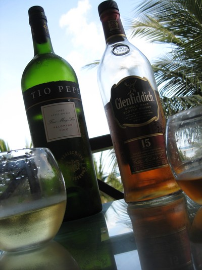 Tio Pepe and Glenfiddich