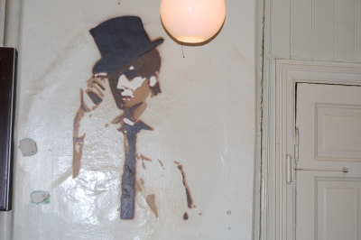 he´s on the wall