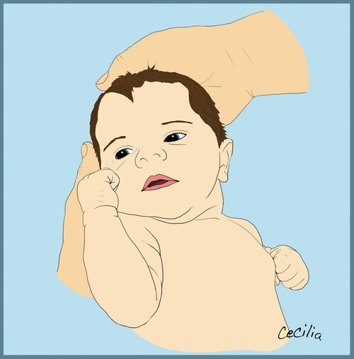 illustration av bebis, illustration baby