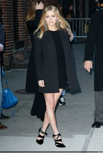 Ashley på David Letterman Show, 2008