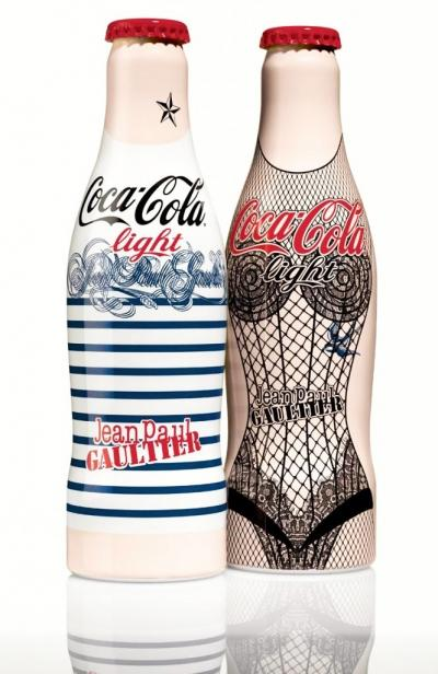 Coca cola, diet coke, Jean Paul Gaultier