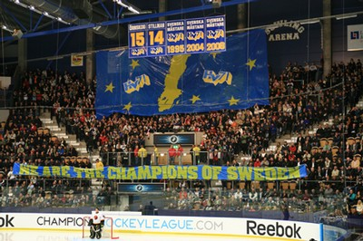 Tifot mot SC Bern - We are the Champions of Sweden.
