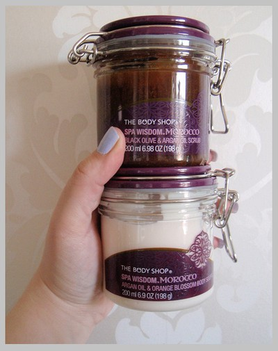 The Body Shop - Spa Wisdom  Morocco scrub & Suffle